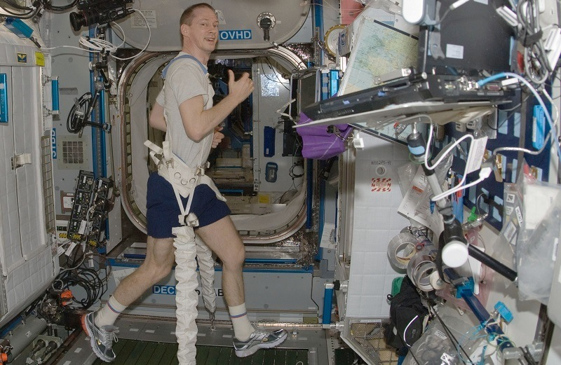 The Space Station Treadmill: Running In Space